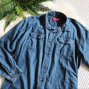 Vintage Wrangler Oversized Denim Shirt Jacket